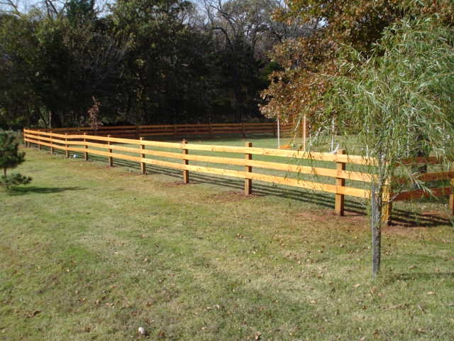 Split Rail or Ranch Style Fence in Oklahoma City Oklahoma Mustang